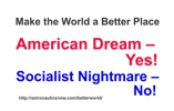 American dream sticker for rocket scientists