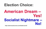 American dream election sticker for rocket scientists