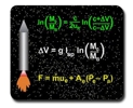 rocket equation mousepad for rocket scientists
